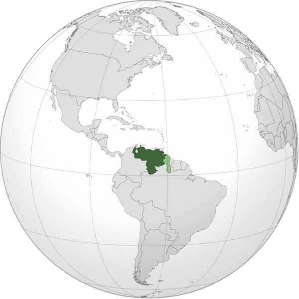 Так выглядит Венесуэла на политической карте мира