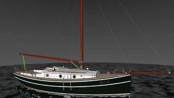 Вот так яхта выглядит в проекте