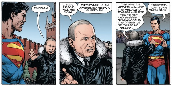 Путин в комиксе DC